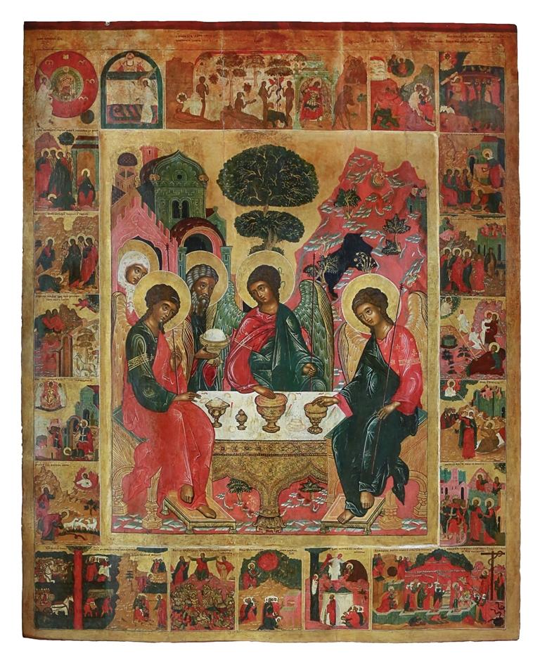 фото чудотворная икона святая троица промокнем